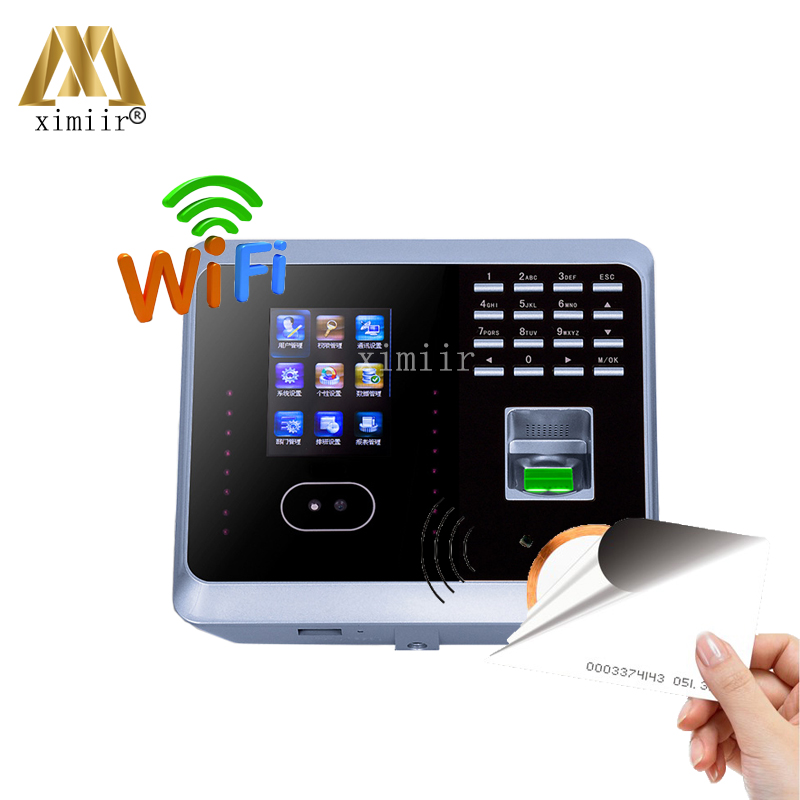 UF100Plus Face Recognition Time Attendance With Fingerprint And RFID Card EM Card Reader ...