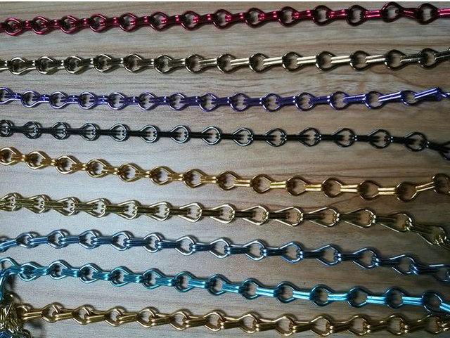 2014 colorful decorative 20x12x24mm aluminium jack chain double jack chain of black gold bronze purse blue color - Decorative Chain