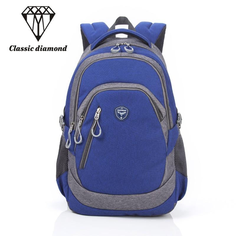 Unisex Waterproof Laptop Backpack School Bags For Women Teenagers Travel Schoolbag Men High Quality Nylon Blue mochila escolar