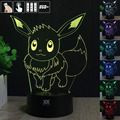 Pokemon Pikachu 3D Night Light RGB Changeable Mood Lamp Pikachu LED Light DC 5V USB Decorative Table Lamp Get a free remote cont