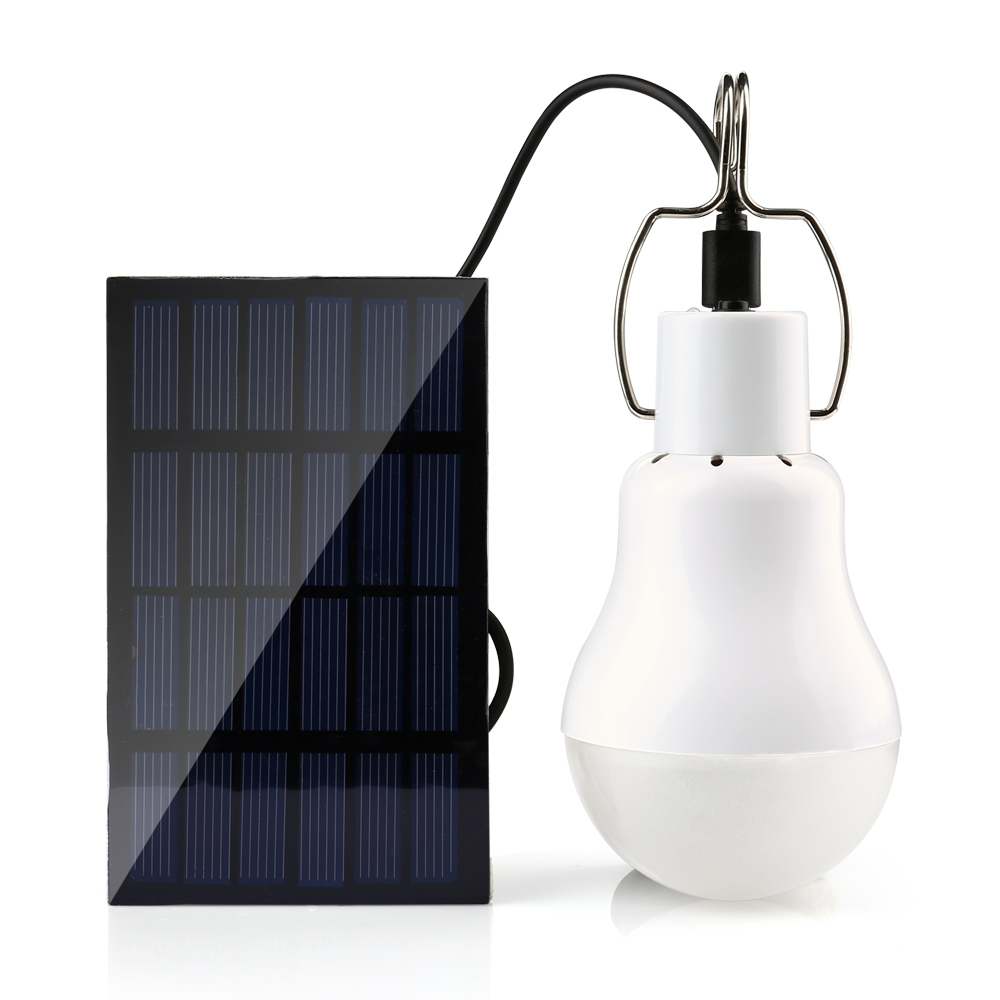 Panneau solaire Camp Tente Lumière de Pêche De Nuit Lampe à Énergie Solaire Energia Solaire 15 W 130LM Lampe Solaire Alimenté Portable Led Ampoule lumière