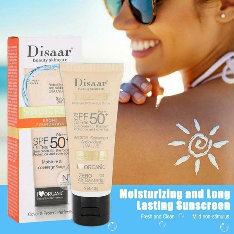40g Disaar Facial Body Sunscreen Whitening Cream Sunblock Skin Protective SPF 50+