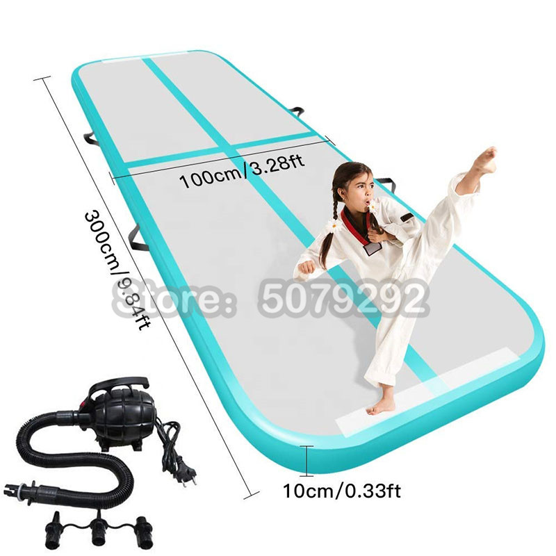 Air Track Tumbling Mat For Gymnastics Inflatable Airtrack Floor Mats With Electric Air Pump For Home Use Cheerleading Training