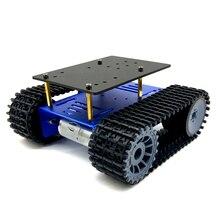 منصة سيارة صغيرة مجنزرة ، هيكل خزان ذكي T10P ، مع محرك تروس لأجزاء لعبة الروبوت DIY