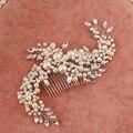Корейский ручной жемчужина гребень деликатный невесты головной убор плагин комбс tiara noiva свадебные аксессуары для волос ювелирные изделия