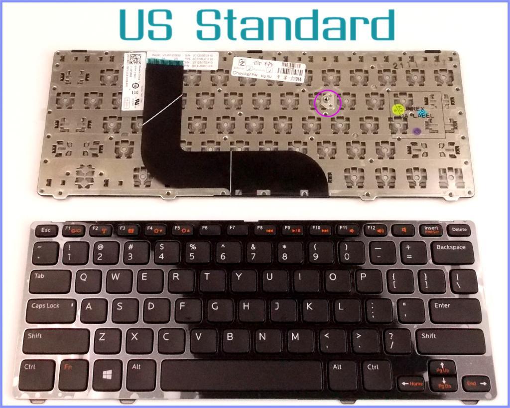 US English Version Keyboard for Dell Vostro 3360 V3360D V3360D-4408 V3360D-2608 V3360D-2808 V3360D-3808 Laptop with Frame