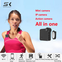 SC Mini Camera HD 720P C1 WIFI P2P Wearable IP Camera Motion Sensor Bike Body Micro