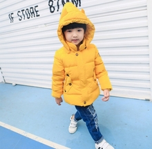 2016 autumn and winter new boys and girls with a short section of warm down jacket