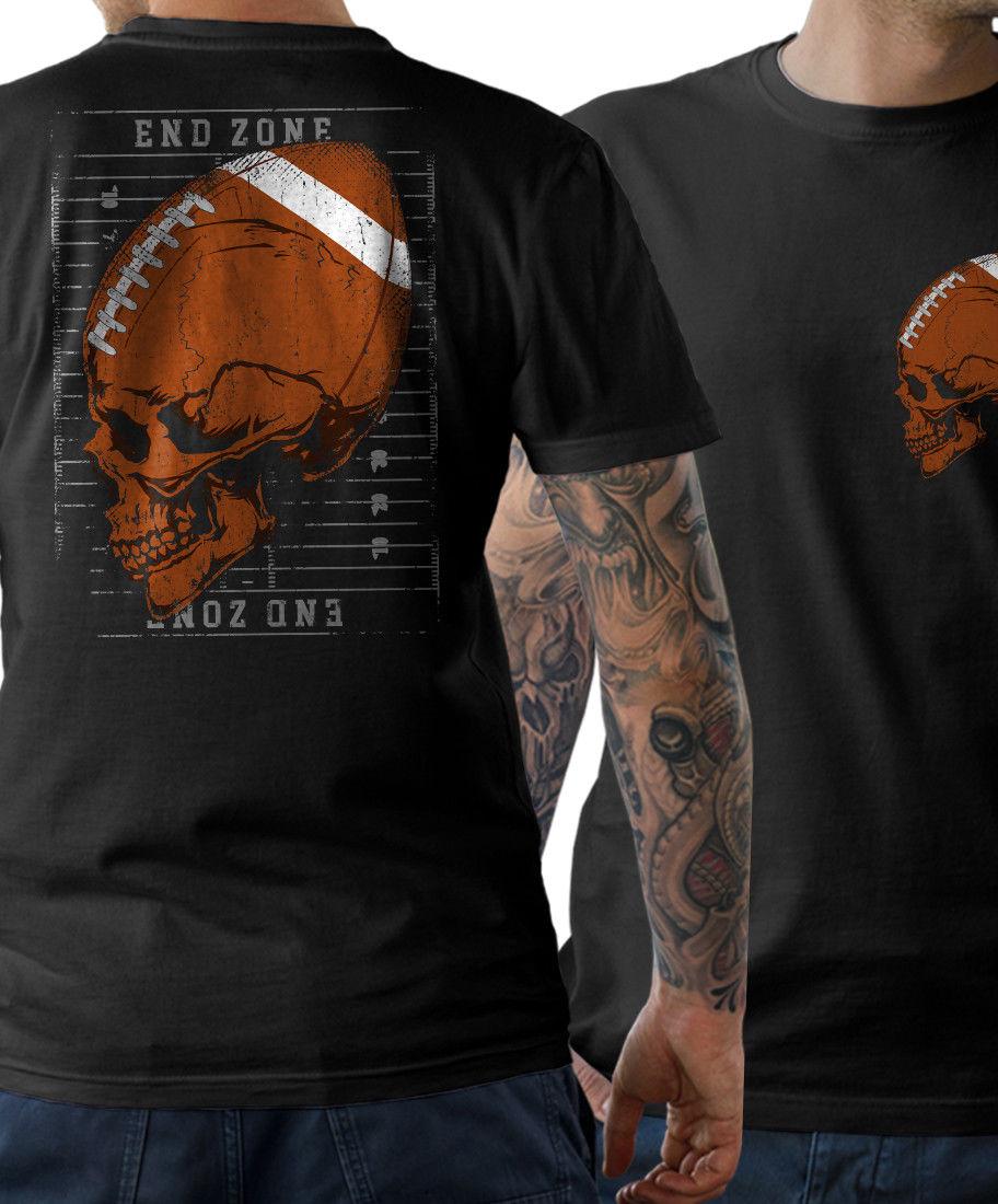 2018 Fashion Footballs Skull T-Shirt Skull American Old School FanShirt  S - 5XL Tee shirt