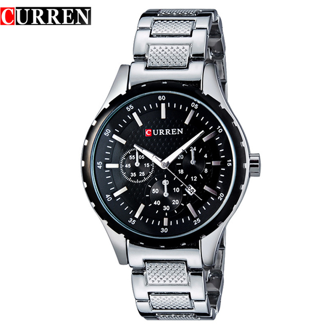 CURREN 8130 Men Fashion Brand Watches Wristwatches Analog Quartz Man Clock Hour Men's Watch Free shipping