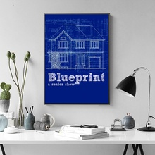 Blueprint canvas promotion shop for promotional blueprint canvas on brooklyn bridge blueprint wall art paint wall decor canvas prints canvas art poster oil paintings no frame malvernweather Gallery