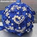 Новое Поступление Лучшее Качество Королевский Цвет Холдинг Свадебный Букет Тайме Мяч с Цветами в Руках Бриллиантовая Брошь Жемчуг Свадебные Букеты