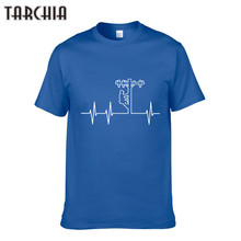 TARCHIIA Summer Casual Slim Fit O Neck T Shirts For Men Print Short Sleeve Plus Size Men'S T-Shirt Cotton Tshirt Clothing