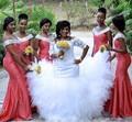 Mermaid Lace Bridesmaid Dress 2017 V-Neck Sleeveless Backless Floor Length Long Satin Bridesmaids Dress 2016 Wedding Party Gowns