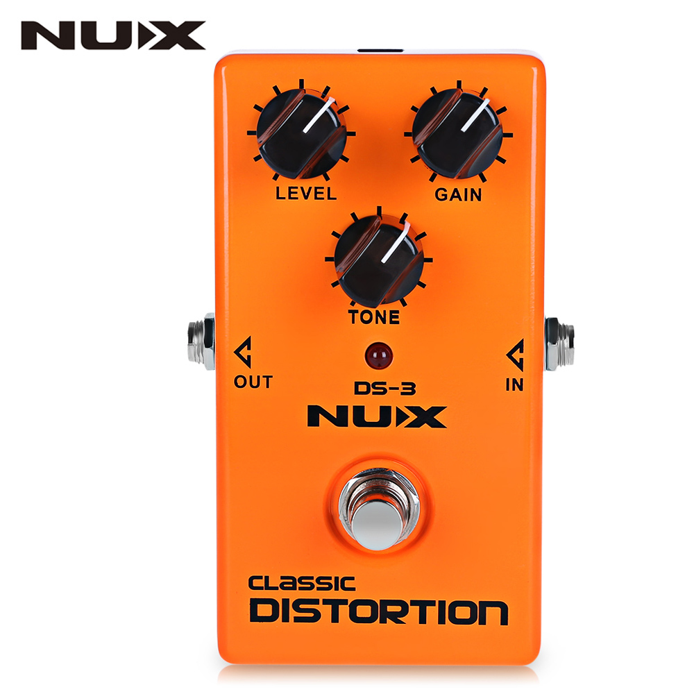 NUX DS-3 Guitar Effect Pedal Amplifier Simulator Guitar Parts & Accessories True Bypass Design Aluminum Alloy Housing mooer ensemble queen bass chorus effect pedal mini guitar effects true bypass with free connector and footswitch topper