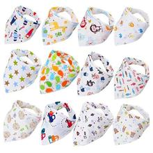 Bibs & Burp Cloths Cartoon Triangle Baby Muslin Cotton Newborn Cloth Toddler Infant Kid Accessories