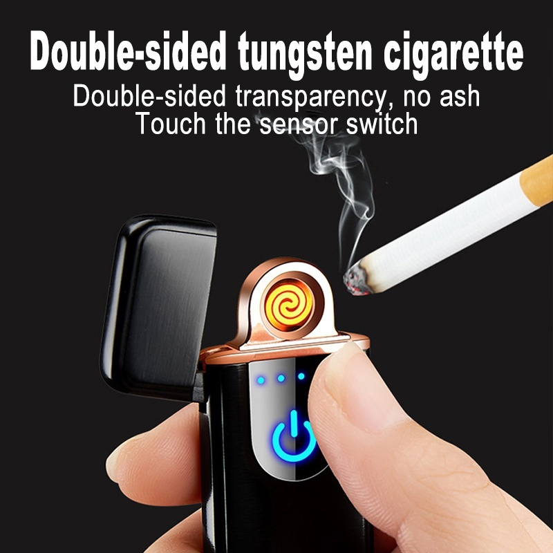 2019 Mini Portable USB Electric Lighter Tobacco Cigarette Charging Outdoor Windproof Fire Usb
