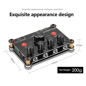 Image 2 - Piccolo Orso P14 Mini Ultra Compatto 4 Channel Stereo Headphone Amp Amplificatore di Studiophile Black & Red