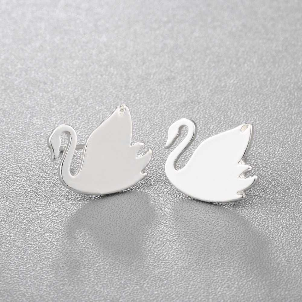 b891d093a ... Chandler Hot Sale Swan Studs Earring For Women Goose Gold/ Silver  Piercing Bird Europe Stud ...