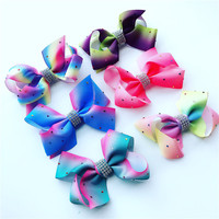Wholesale 6 Pieces Colorful Lovely Baby Children Hair Hoop Girls Birthday Party Cute Butterfly Headbands Accessories for Kids