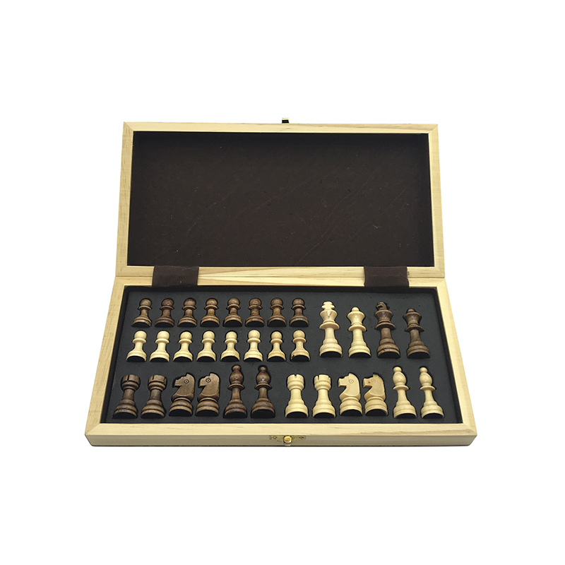 Yernea New Magnetic Chess Games Wooden Chessboard Outdoor Chess Set Games Solid Wood Chess Pieces Magnetic Folding Chessboard 3