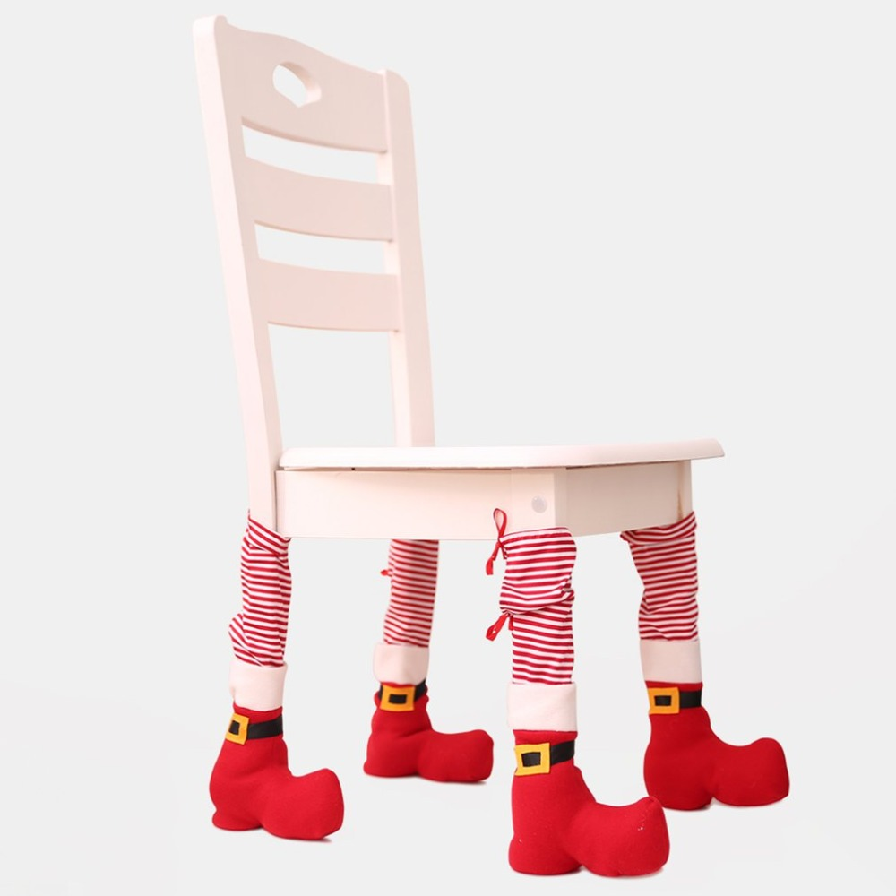 Christmas Chair Leg Socks Home Furniture Leg Floor Protecting Cover Non-slip Table Legs Cover Furniture Accessories Furniture