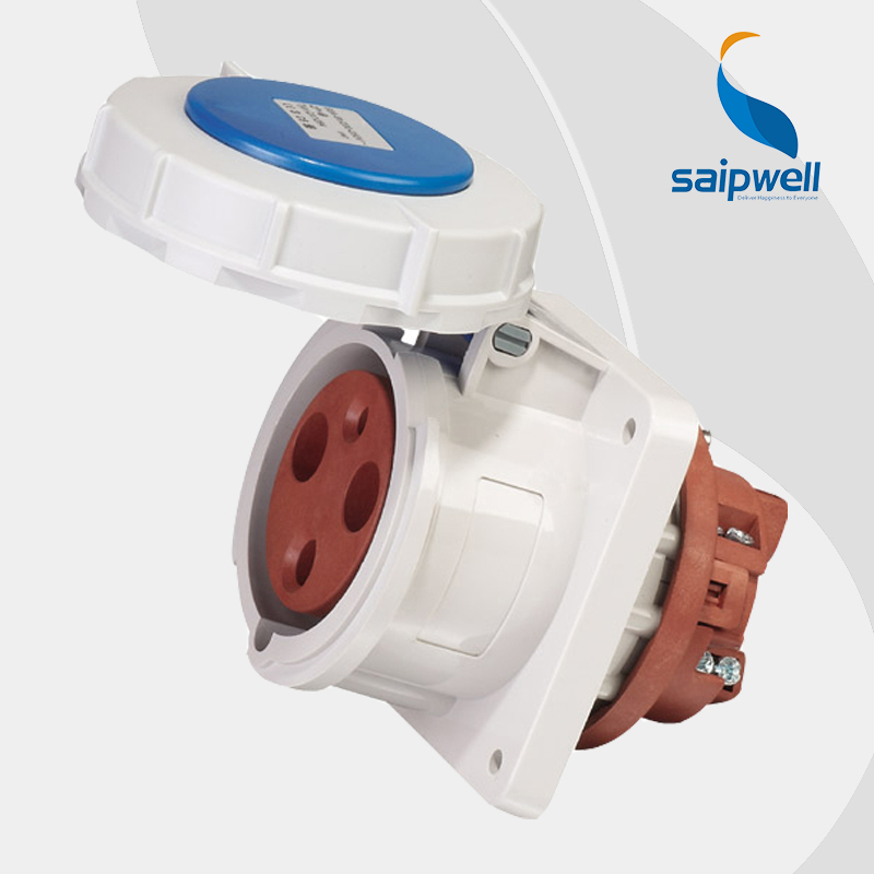 Wholesale Saipwell 3P (2P+E) 230V 63A IP67 EN / IEC 60309-2 industrial waterproof socket connector industrial socket SP1264 63a 5pin novel industrial hide direct socket connector sfn 3352 concealed installation socket 3p n e cable connector ip67