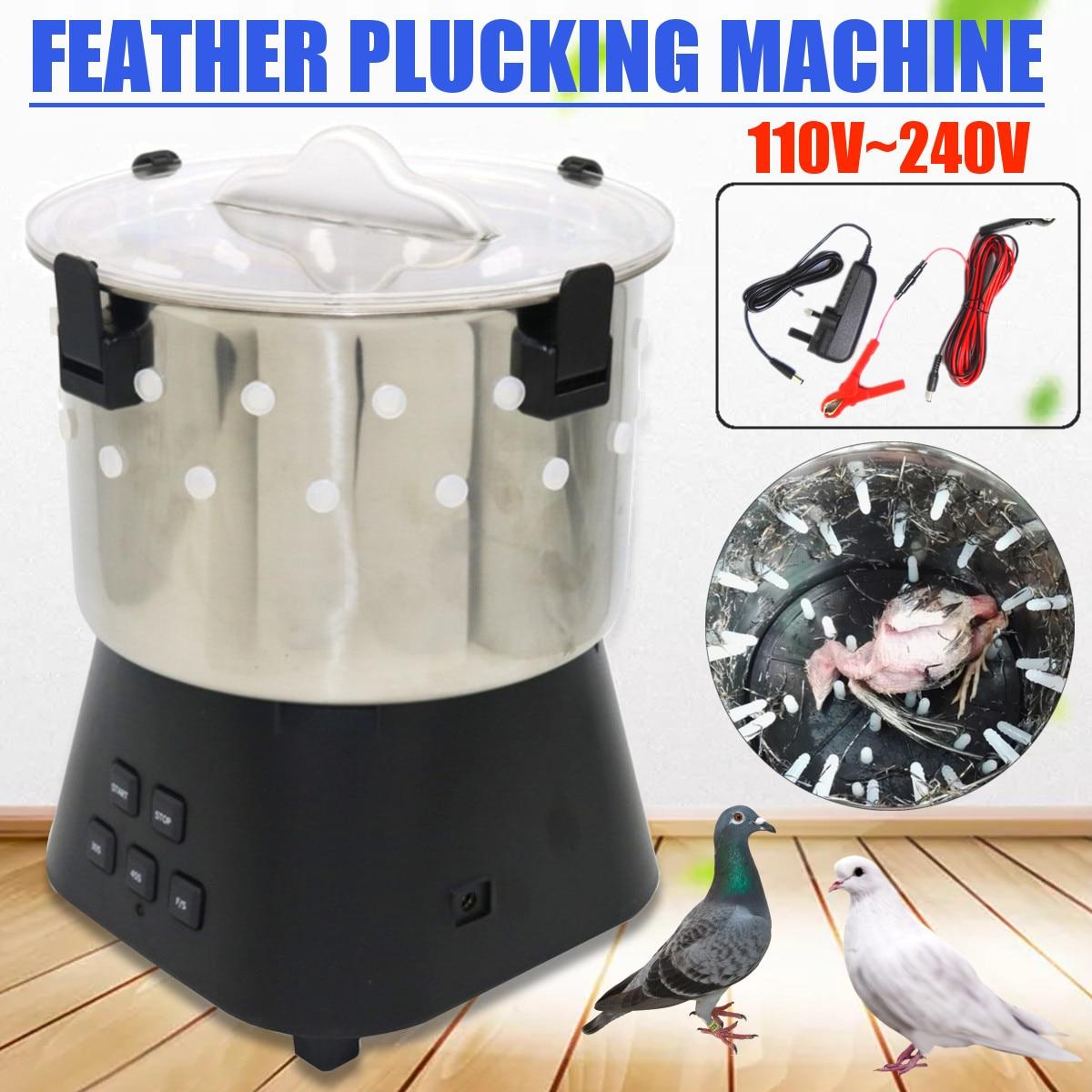 Mini Plucker Macchina 110 V ~ 240 V A 12 V di Quaglia Piccioni Uccello Macchina di Rimozione Dei Capelli Pollame Plucker Uccelli epilatore Egiarratura