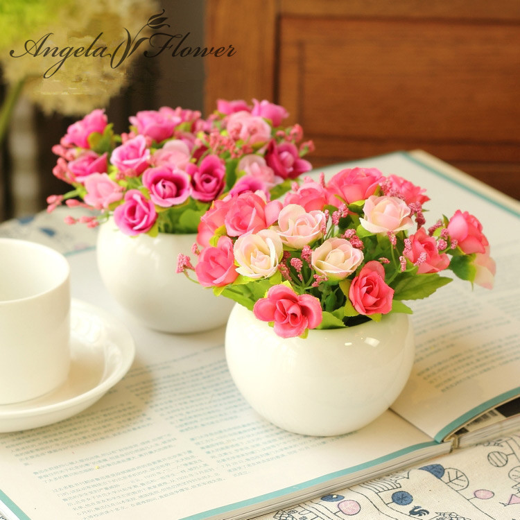 Quality ceramics vase silk flowers artificial flower set home quality ceramics vase silk flowers artificial flower set home decoration office balcony decorate in artificial dried flowers from home garden on mightylinksfo