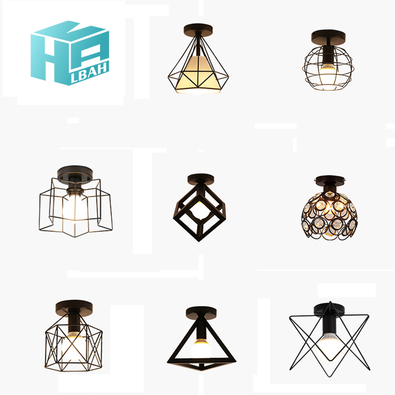 Vintage Wrought Iron Ceiling Light For Living Room Bedroom Nordic  Retro Corridor Aisle For Living Room Bar Ceiling LampVintage Wrought Iron Ceiling Light For Living Room Bedroom Nordic  Retro Corridor Aisle For Living Room Bar Ceiling Lamp