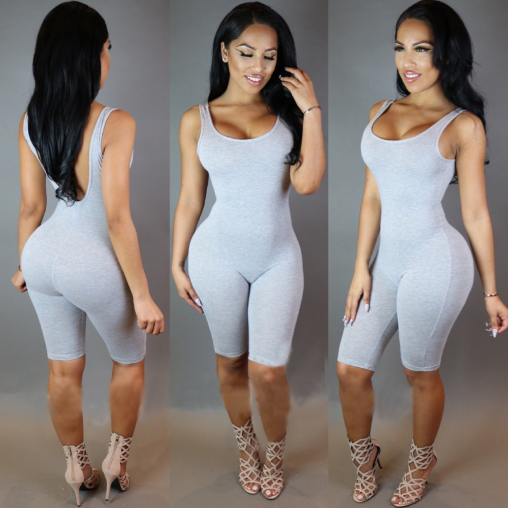 Jumpsuit Tank Top For Women Large Size Elastic Rompers