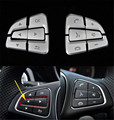 12pcs ABS Car Steering Wheel Button Switch Trim Cover Sticker for Mercedes Benz A B CLA CLS GLE GLS Class 2015-2016 new models