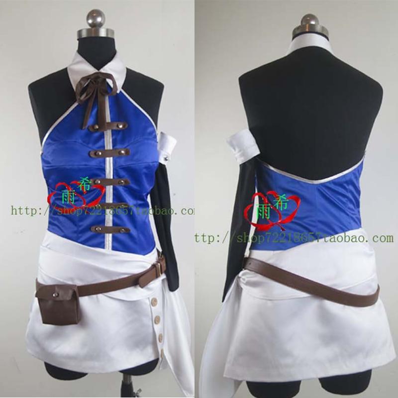 Cartoon FAIRY TAIL Lucy Heartphilia Comics Cosplay Costume Dress+Glove+Belt+Bowknot