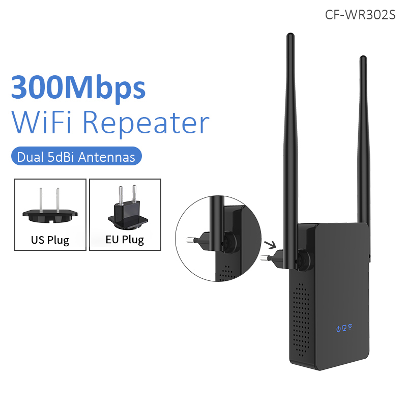 Wireless WIFI Router Repeater 300M 10dBi Antenna Signal Booster NK-Shopping