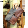 2017 Brand Patchwork Leather Men Handbag Fashion Envelope Clutch Casual Laptop Men Travel Bags Vintage Men Messenger Bags A1326