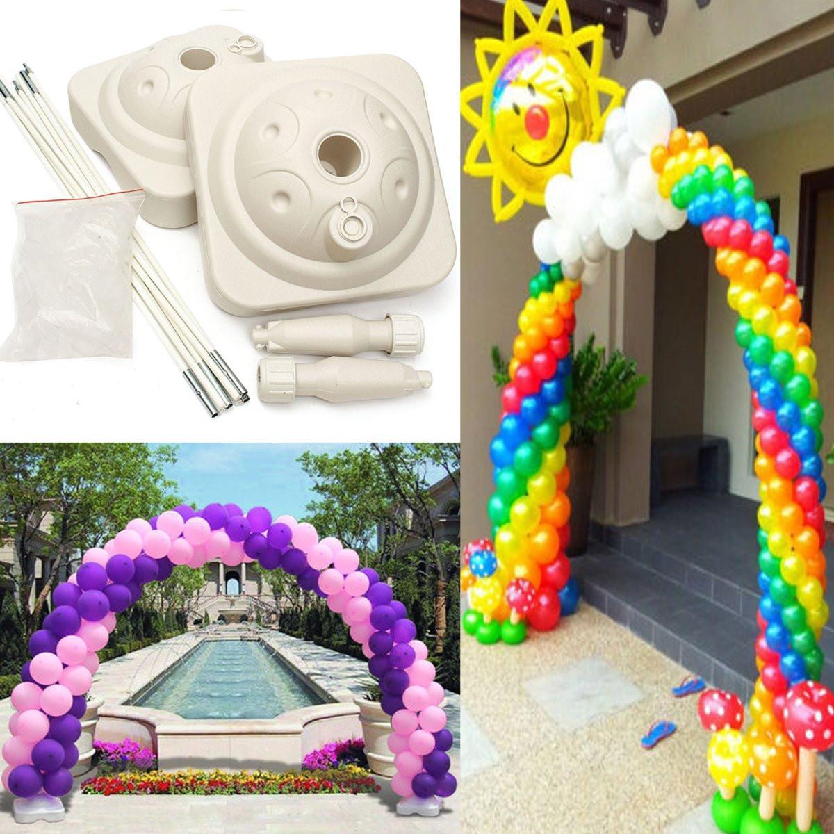 Popular balloon arch kit buy cheap balloon arch kit lots for Balloon arch frame kit party balloons decoration