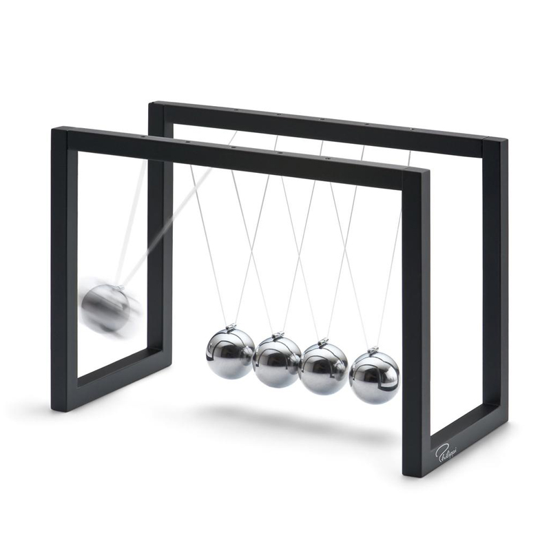 ABS Newtons Cradle Steel Balance Pendulum Ball Physics Science Fun Desk Toy Educational Teaching Accessory Gift 2color