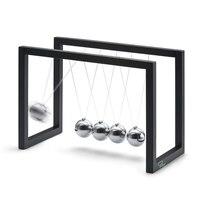 ABS Stal Newtonów Cradle Bilans Pendulum Ball Fizyka Nauka Fun Biuro Zabawki Edukacyjne Nauczanie Akcesoria Prezent 2 kolorów