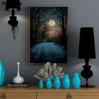 Beautiful Moon Abstract Art 100 Hand Painted Oil Painting Large Size Canvas Art Home Decor Wall