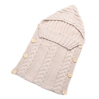 Newborn Baby Wrap Swaddle Blanket Kids Toddler Wool Knit Blanket Swaddle Baby Sleeping Bag Sack Stroller