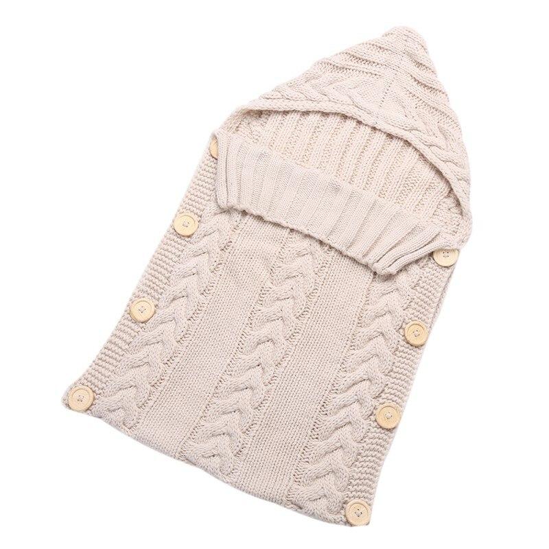 Newborn Baby Wrap Swaddle Blanket Kids Toddler Wool Knit Blanket Swaddle Baby <font><b>Sleeping</b></font> Bag Sack Stroller Wrap for 0-12 Months