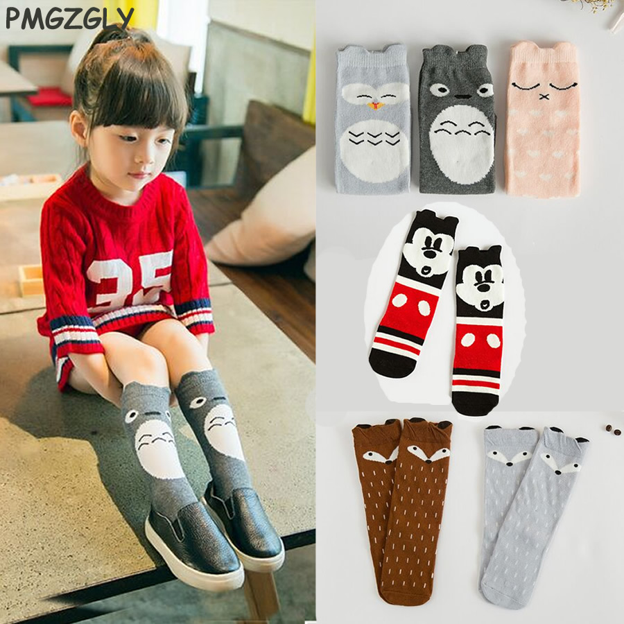 Girl Fox Socks Knee High Length Cat Socks Children Long Kids High With Bows Princess Socks baby Long Socks Cotton