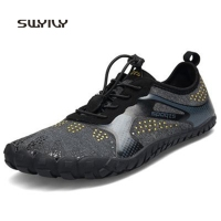 SWYIVY Men's Women Running Shoes Waterproof Barefoot Unisex Sneakers 2018 New Soft Heel Breathable Men And Women Sport Shoes