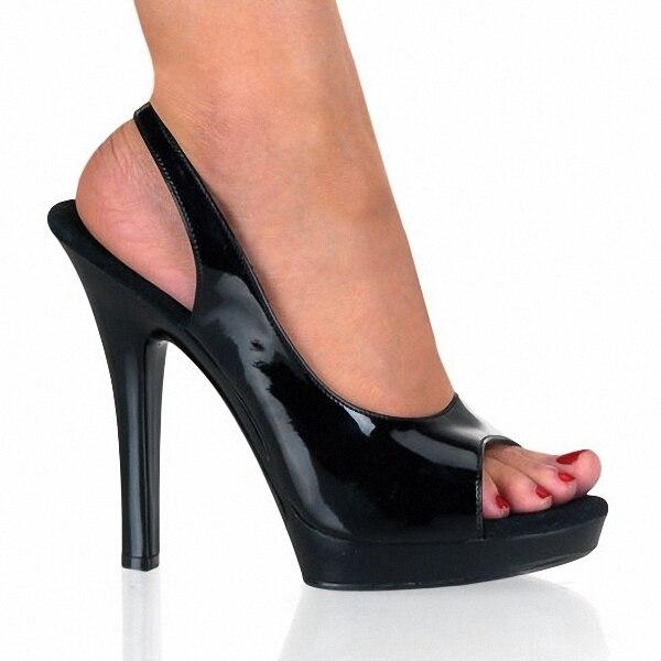 Сексуальная 13 см Ультра Высокой Платформе Обувь для Женщин Открытым Носком насосы 5 дюймов рыбак Гладиатор Сандалии Насосы Бесплатная Доставка Танец обувь