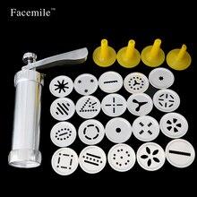 Cookie Presse Biscuit Maschine Maker Kuchen Machen Dekorieren Gun Küche Aluminium Icing Sets 03077