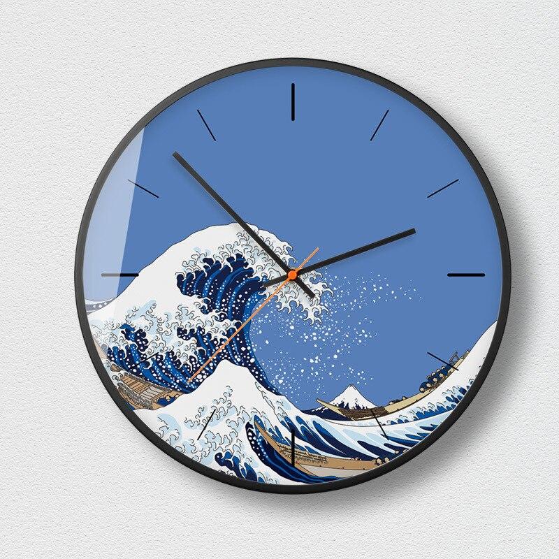 Accueil horloge murale silencieuse salon chambre minimaliste moderne décoratif montre métal Quartz rond horloges murales