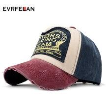 Evrfelan,, Женская бейсбольная кепка для мужчин, хлопковая бейсболка s, унисекс, бейсболка, регулируемая, хип-хоп, мытая Кепка