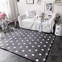 Fashion Lovely Stars Grey Soft Living Room Parlor Bedroom Bathroom Mat Door Foot Yoga Play Camp Pad Decorative Carpet Area Rug