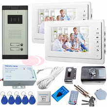 Sunflowervdp Video Intercom System Doorbell With Camera Wired For 3 Apartemtns With Rfid Access Control Electronic Door Lock