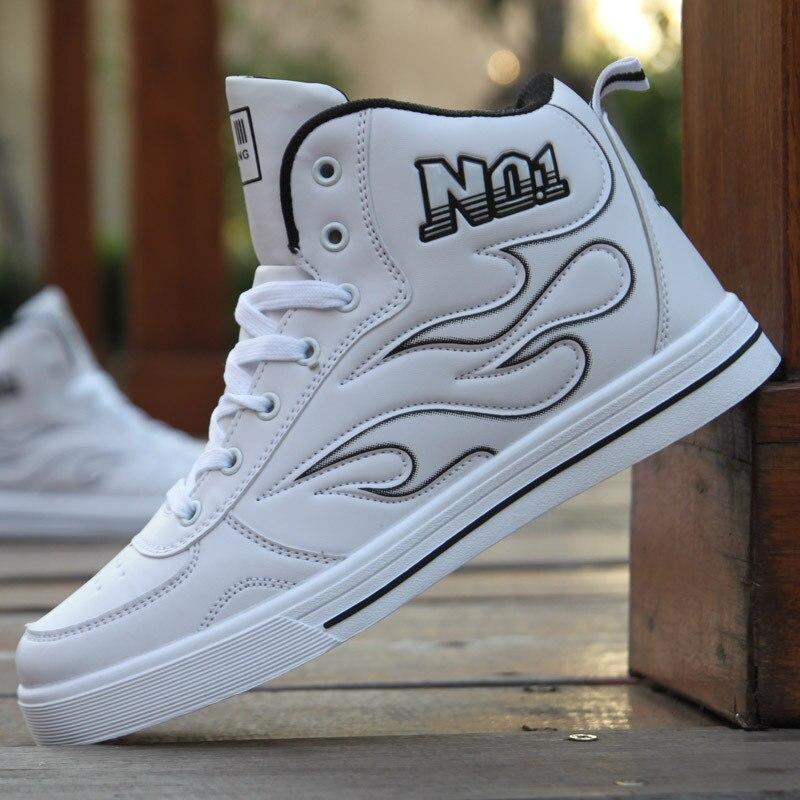 Nouveaux hommes de mode chaussures de skateboard baskets hautes chaussures de sport respirantes chaussures blanches chaussures de rue Chaussure HommeNouveaux hommes de mode chaussures de skateboard baskets hautes chaussures de sport respirantes chaussures blanches chaussures de rue Chaussure Homme